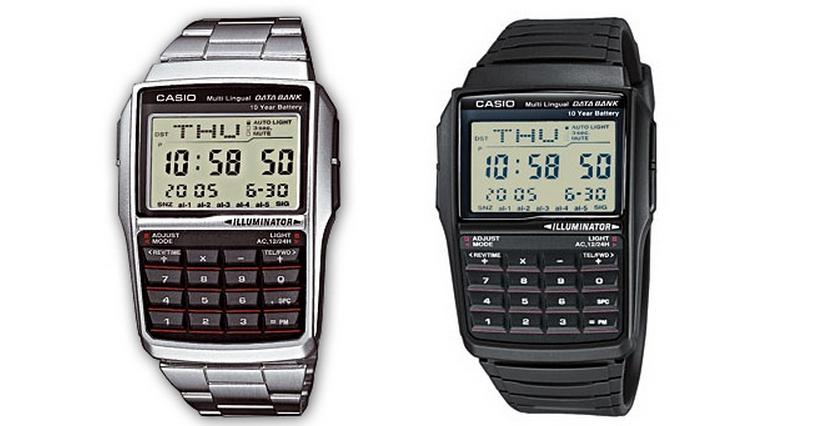 Relojes Casio retro con calculadora