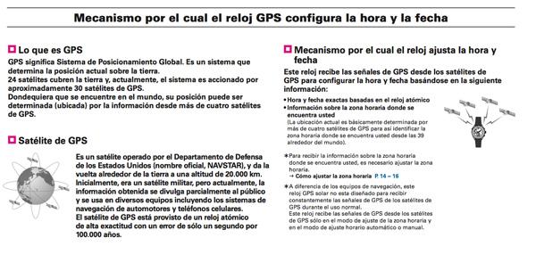 Como funciona el GPS del Seiko Astron GPS Solar