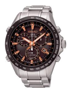 Reloj Seiko Aston GPS Solar en acero y bisel de cerámica, con toque retro SSE033j1