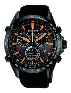 Reloj Seiko Aston GPS Solar en acero negro y correa de cuacho, ref. SSE017j1