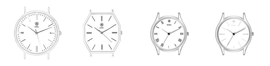 Tipos de cajas de los relojes balber