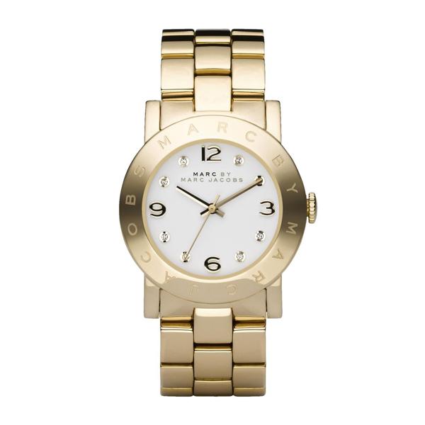2545b832eaaa Reloj Marc by Marc Jacobs para señora dorado en oro amarillo y esfera  blanca mbm3056