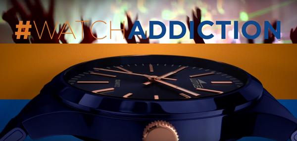 Camañpa de televisión de relojes Lotus #WatchAddiction, relojes de colores
