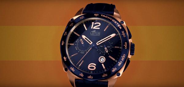 Relojes Lotus para hombre Smart Casual en colores, anunciados en televisión