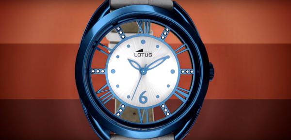 """Relojes Lotus de mujer """"Trendy"""" en colores, anunciados en televisión"""