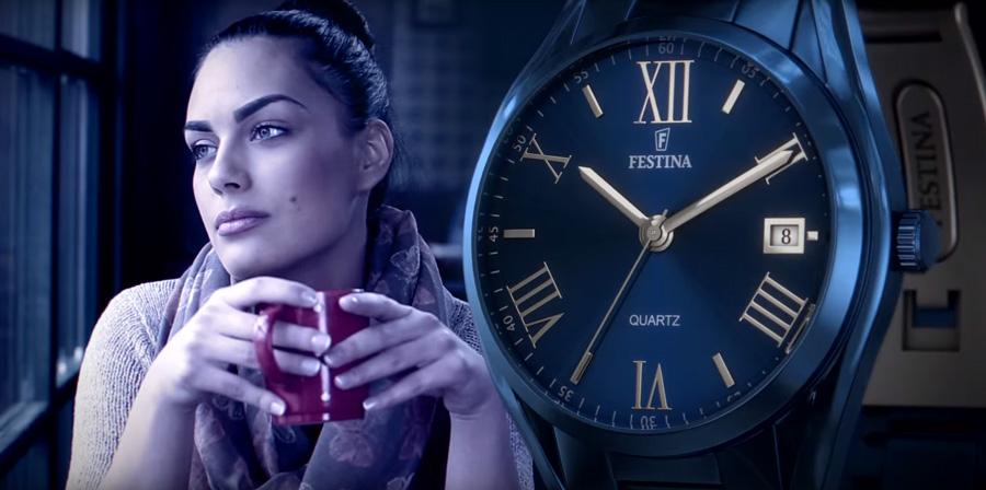 Nuevos relojes Lotus y Festina anunciados en televisión, de colores.