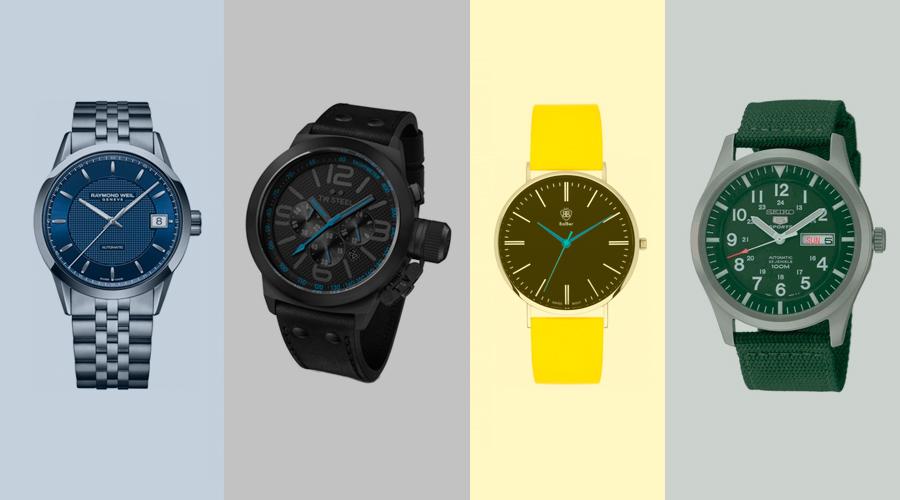4 Relojes, 4 Estilos, 4 colores.