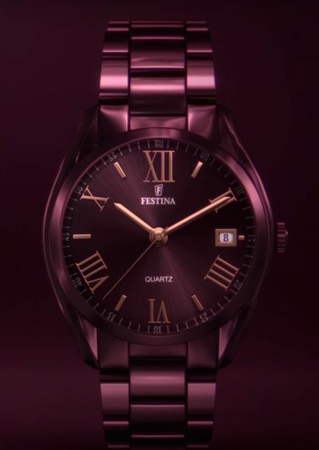 Reloj Boyfriend de Festina, para mujer, en color cereza.