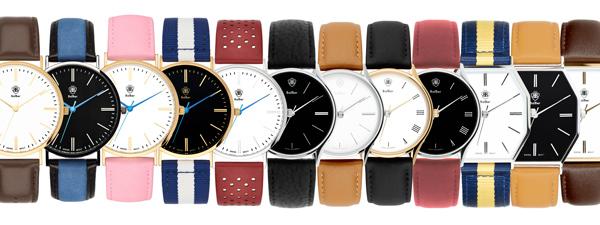 Reloj Balber de estilo retro.