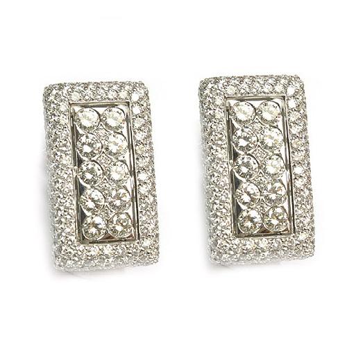 Pendientes para madrinas en oro blanco y diamantes.