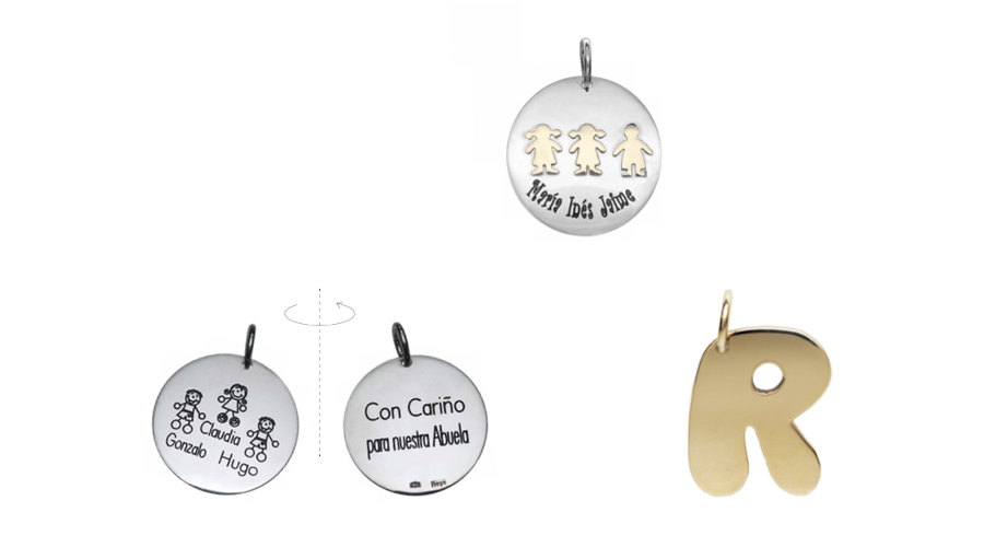Otros regalos de plata y oro para customizar.