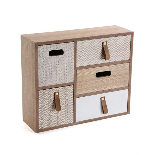 Modelo de caja en color madera, de Versa.