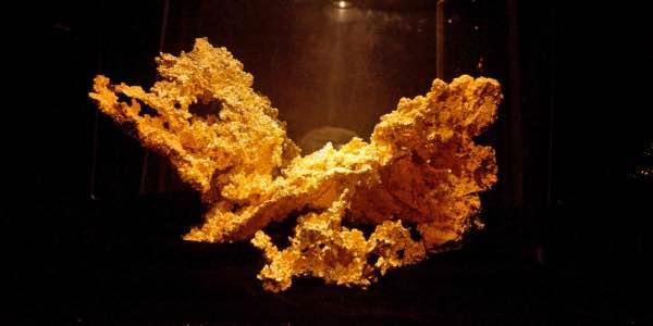 Unas de las pepítas de oro más grande del mundo.