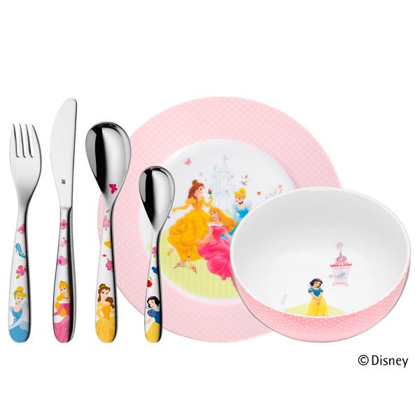 Cubiertos de Princesas Disney, de 6 piezas (WMF).