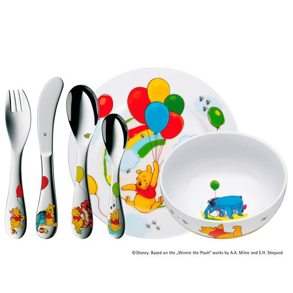 Set de cubiertos y vajilla de porcelana de Winnie de Pooh, WMF (pueden ser grabados).