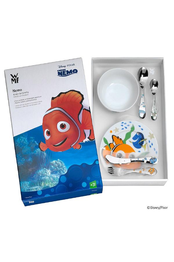 Set de cubiertos infantiles Disney de Nemo, con vajilla de porcelana.