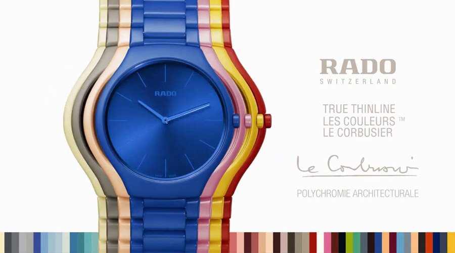 Rado True Thinline Colors Le Corbusier 2019.