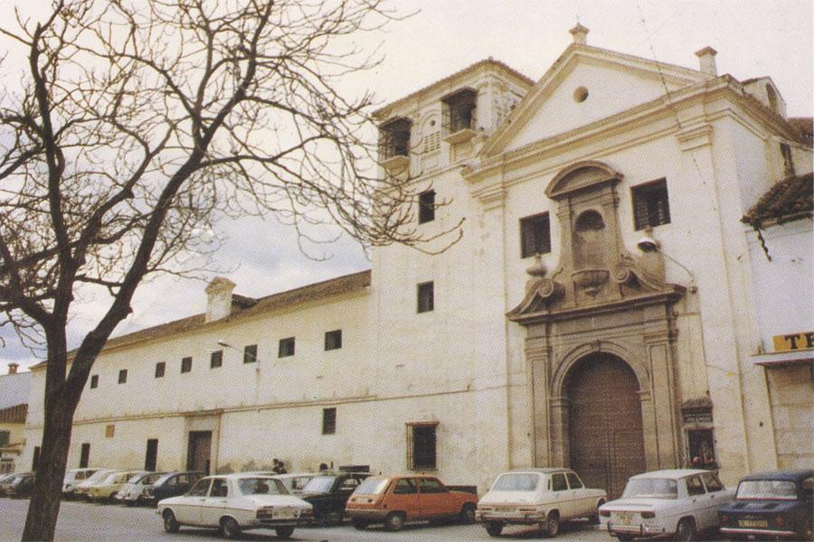 Aspecto de la Plaza de las Carmelitas, a mediados de los 80´s.